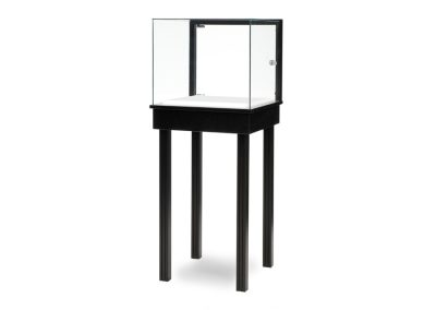 Half Vision Straight Leg Square Pedestal With A Glass On Glass Frame