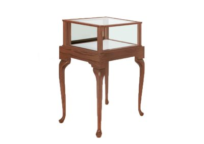 Jewelry Vision Queen Anne Square Pedestal Display Case