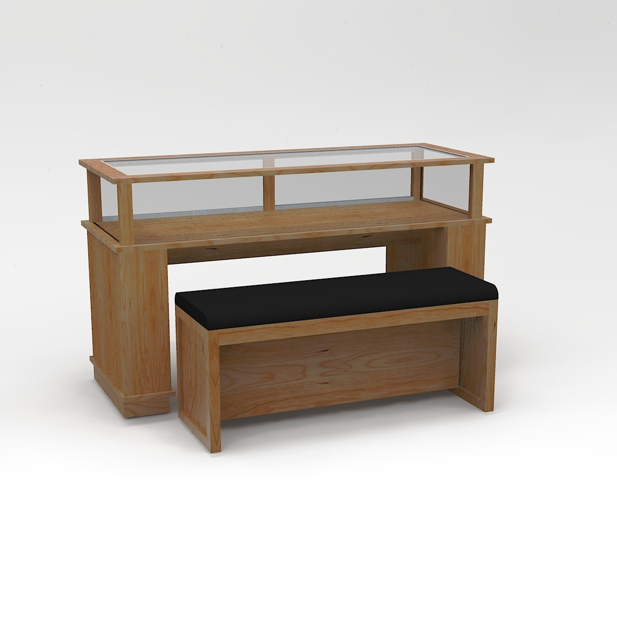 60 Inch Wide Classic Rectangle Sit-Down Display Case To Purchase