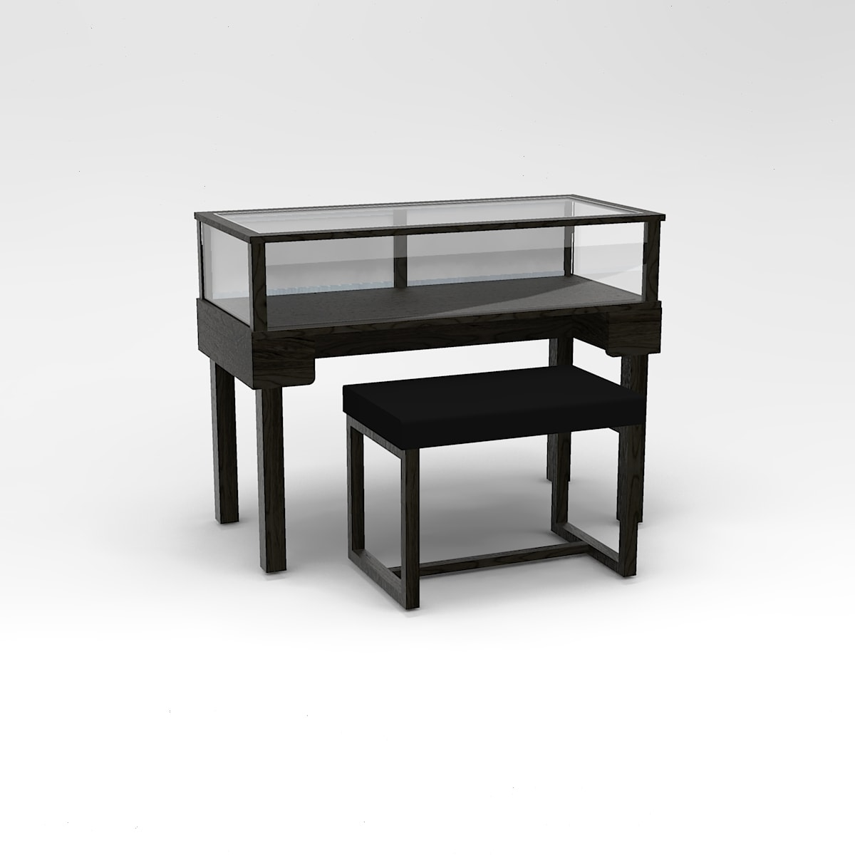 48 Inch Wide Straight Leg Rectangle Sit-Down Display Case To Purchase