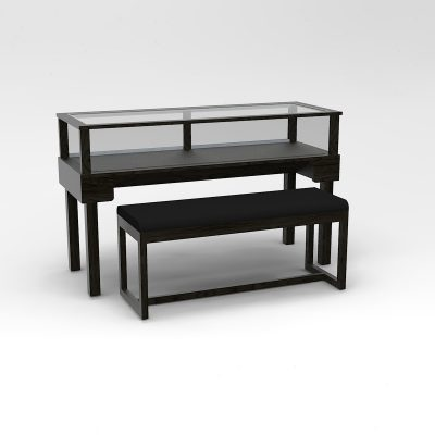 60 Inch Wide Straight Leg Rectangle Sit-Down Display Case To Purchase