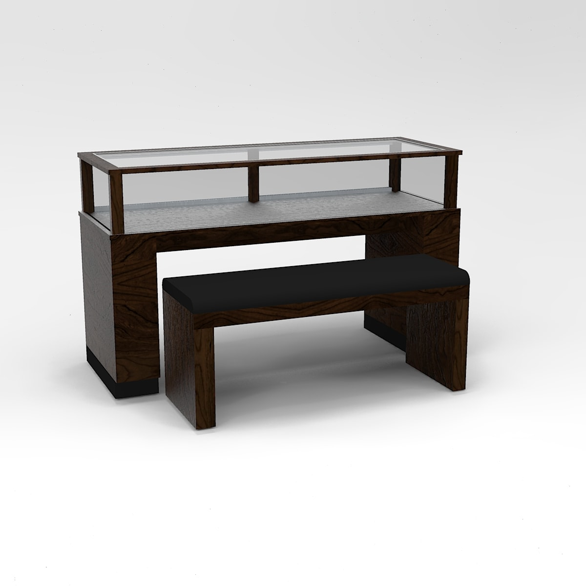48 Inch Wide Contemporary Rectangle Sit-Down Display Case To Purchase