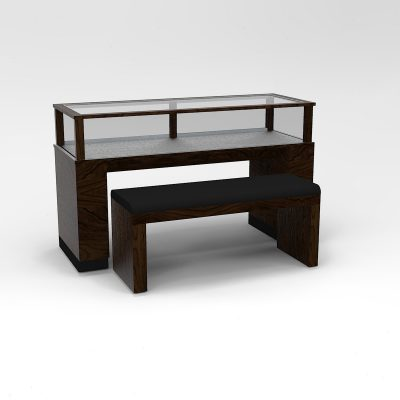60 Inch Wide Contemporary Rectangle Sit-Down Display Case To Purchase