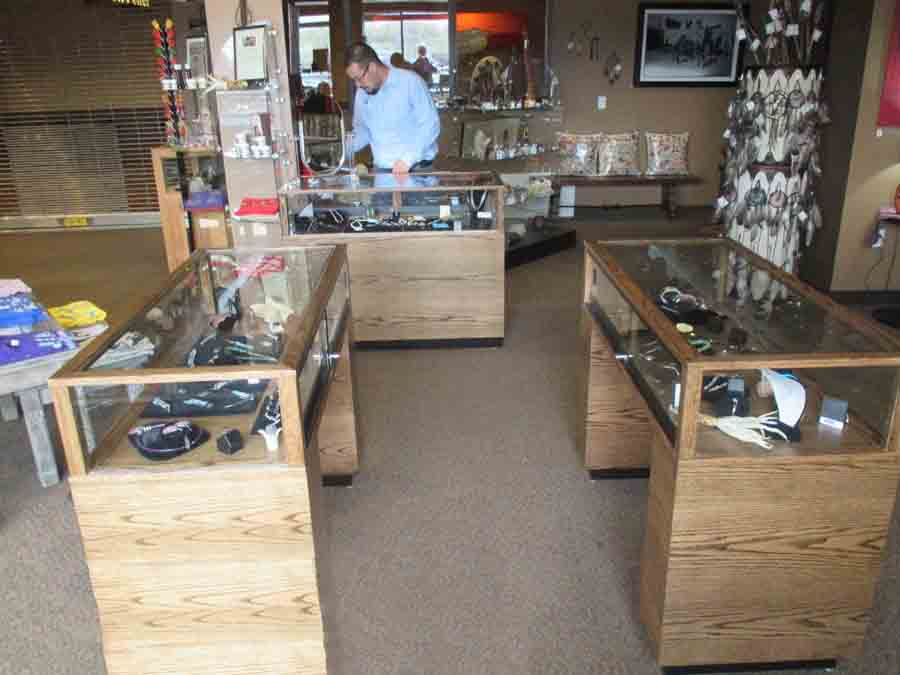 contemporary rectangle sit-down display cases custom made for a retail store