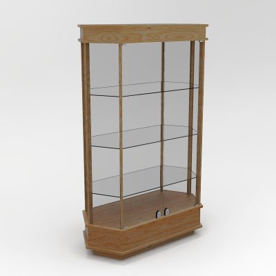 Extended Classic Hexagon Horizontal Display Case To Purchase With Tower Floor Vision