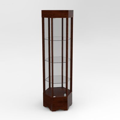 Narrow Transitional Hexagon Horizontal Display Case To Purchase With Tower Floor Vision