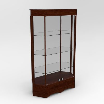 Extended Transitional Hexagon Horizontal Display Case To Purchase With Tower Floor Vision