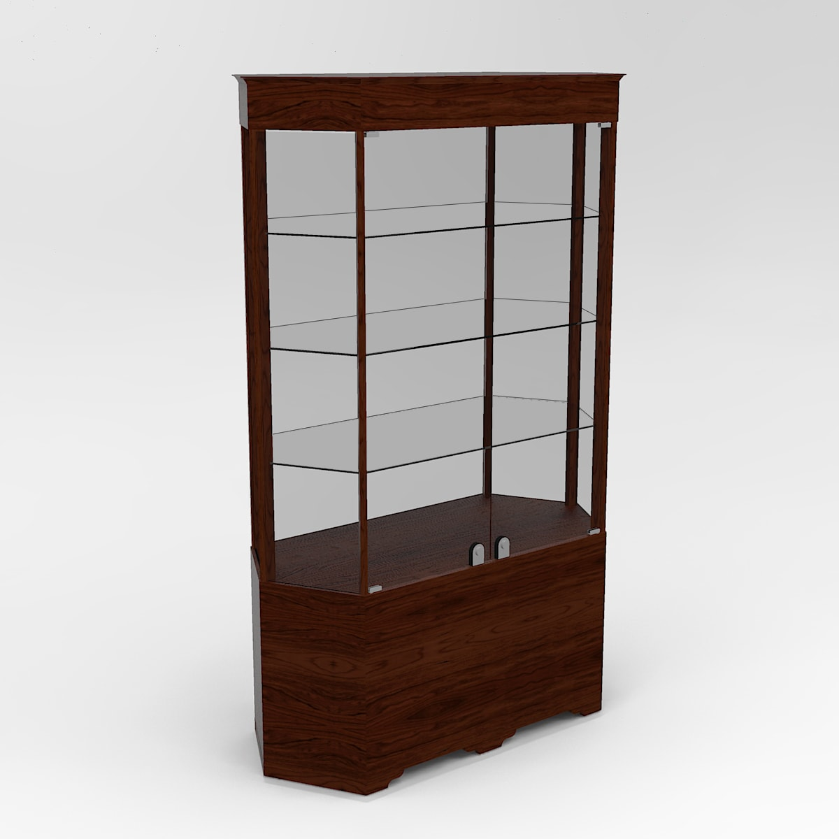 Extended Transitional Hexagon Horizontal Display Case To Purchase With Tower Standard Vision