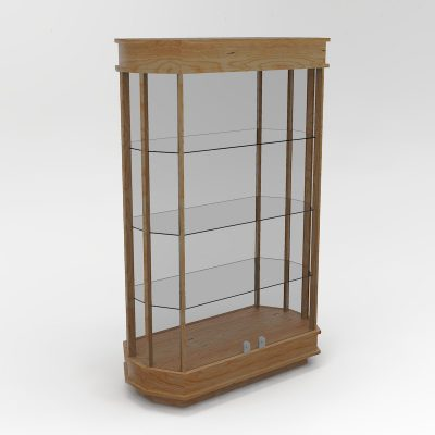 Extended Classic Octagon Horizontal Display Case With Tower Floor Vision