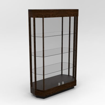 Extended Contemporary Octagon Horizontal Display Case With Tower Floor Vision
