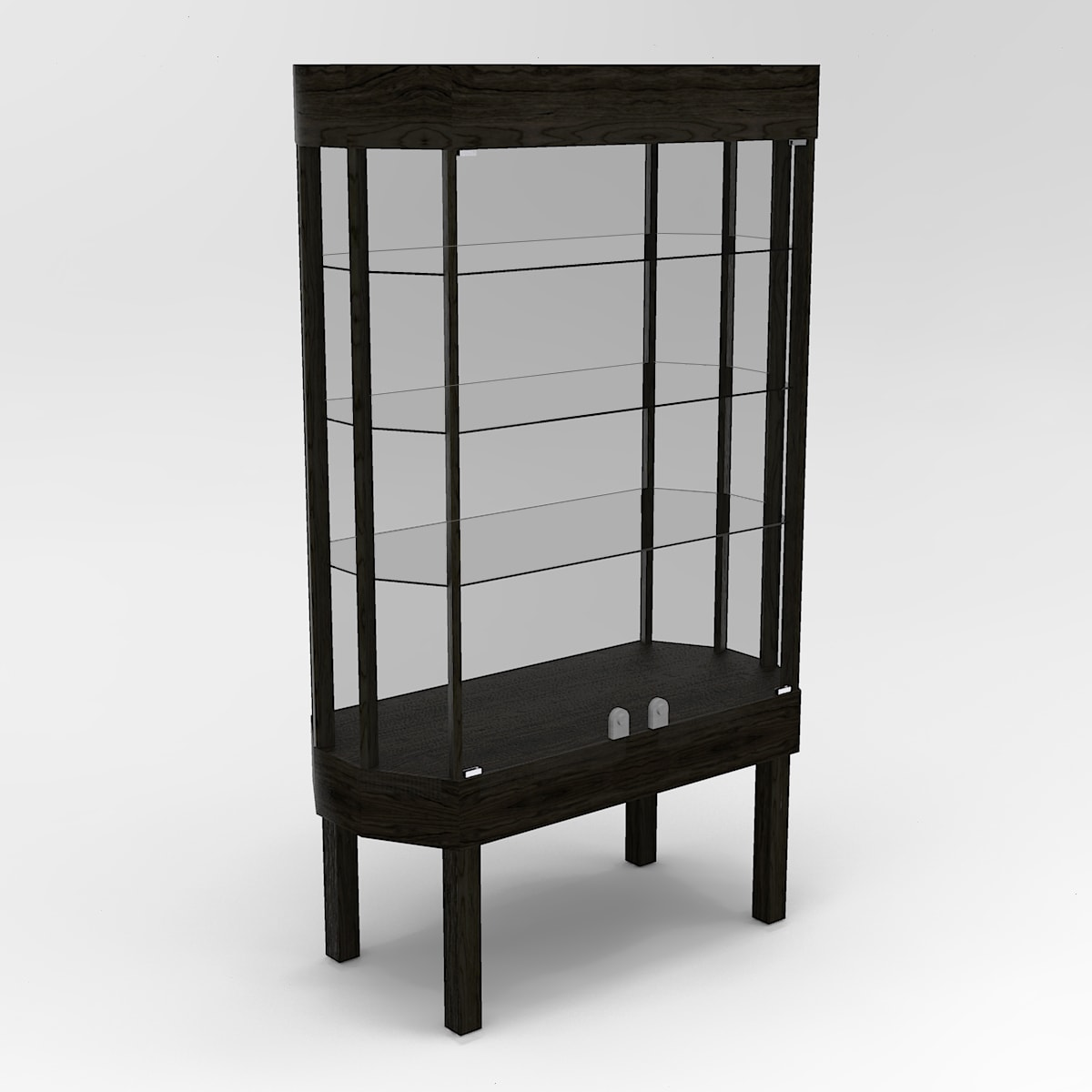 Extended Straight Leg Octagon Horizontal Display Case To Purchase