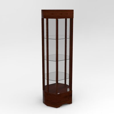 Narrow Transitional Octagon Horizontal Display Case With Tower Standard Vision