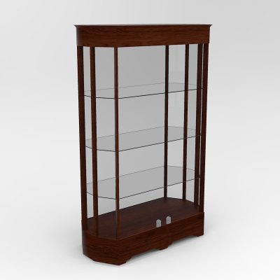 Extended Transitional Octagon Horizontal Display Case With Tower Floor Vision