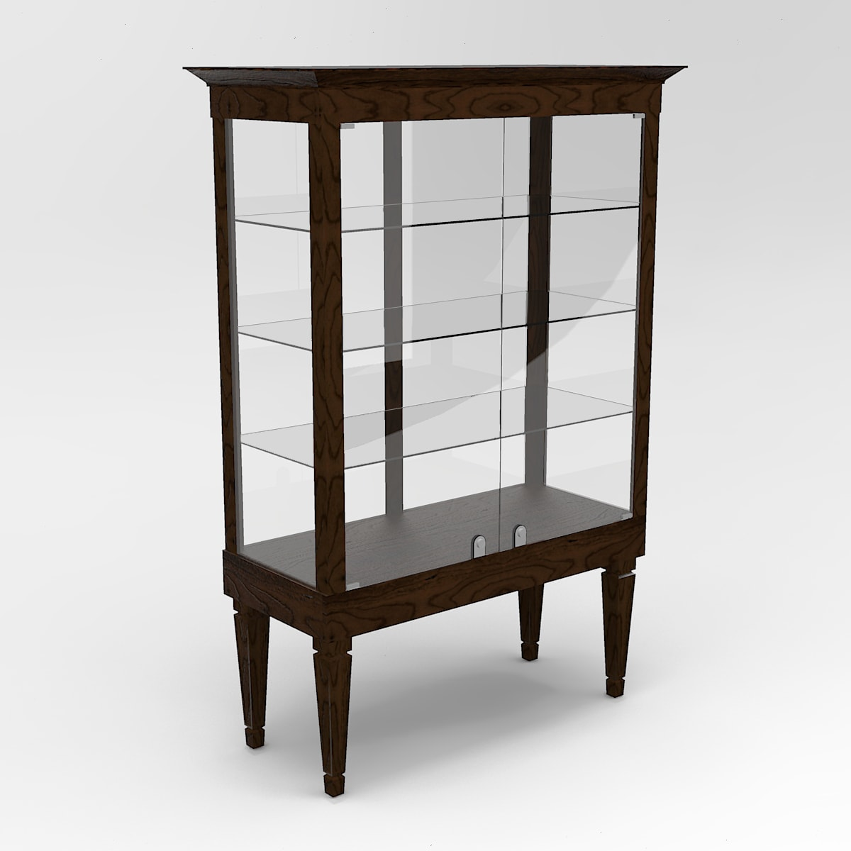 Extended Executive Leg Rectangle Tower Display Case To Purchase