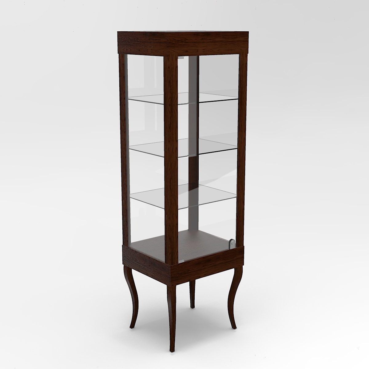 Narrow Country French Leg Rectangle Tower Display Case To Purchase