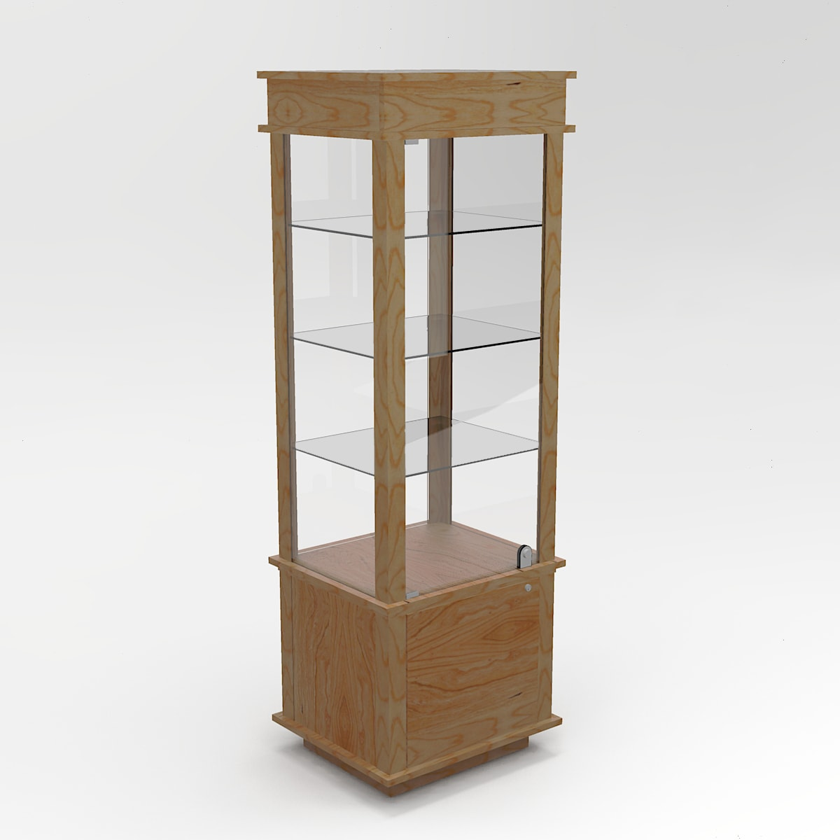 Narrow Classic Rectangle Horizontal Display Case In Tower Standard Vision