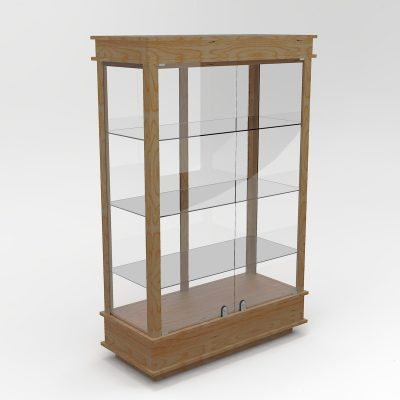 Extended Classic Rectangle Horizontal Display Case In Tower Floor Vision