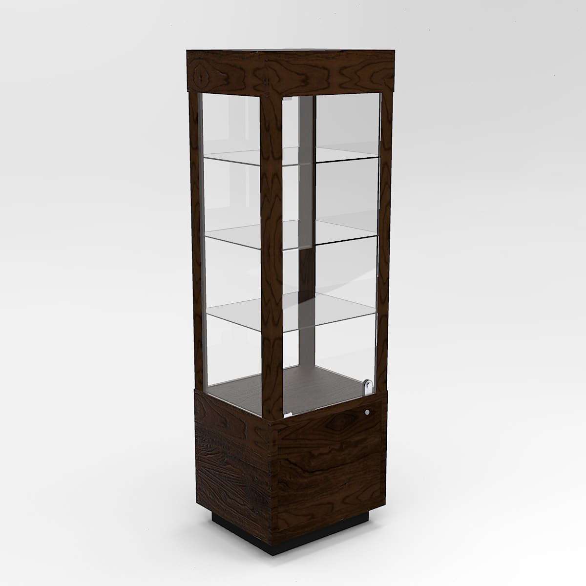 Extended Contemporary Rectangle Horizontal Display Case In Tower Standard Vision