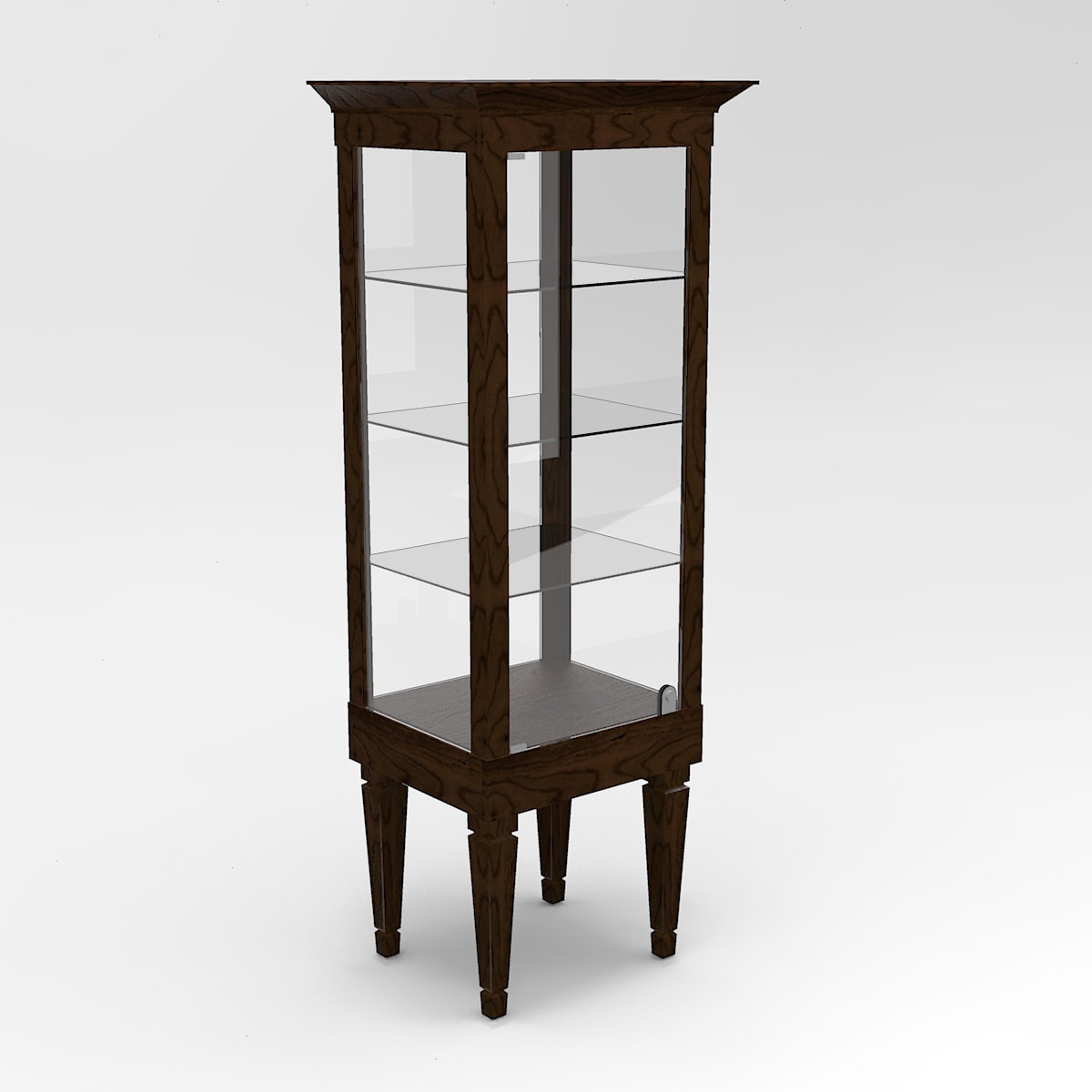 Narrow Executive Leg Rectangle Tower Display Case To Purchase