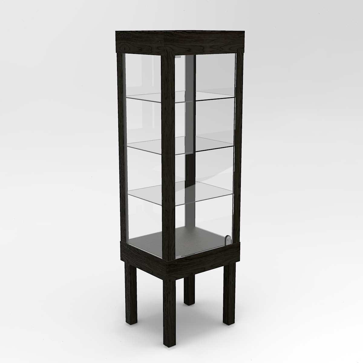 Narrow Straight Leg Rectangle Tower Display Case To Purchase