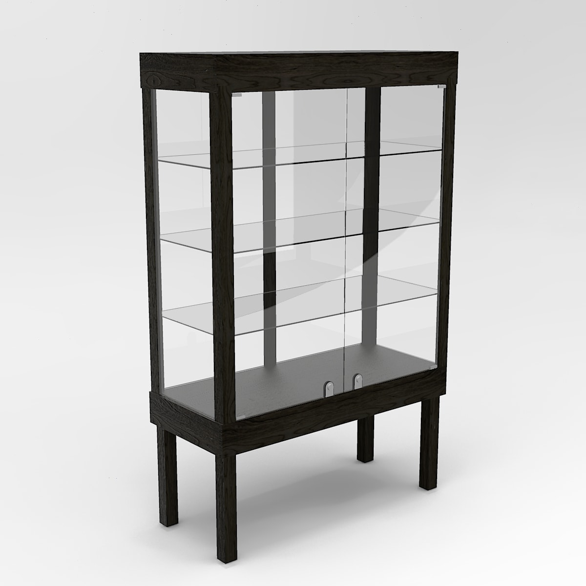 Extended Straight Leg Rectangle Tower Display Case To Purchase