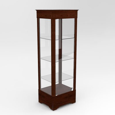 Narrow Transitional Rectangle Horizontal Display Case In Tower Floor Vision