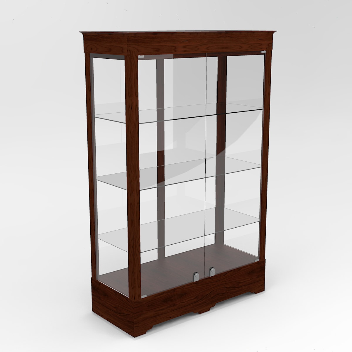 Extended Transitional Rectangle Horizontal Display Case In Tower Floor Vision