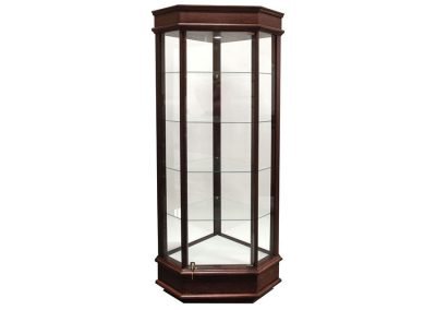 22 Inch Wide Classic Corner Tower Display Case With Tower Floor Vision