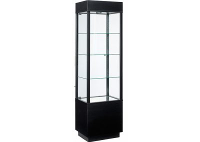 22 Inch Wide Contemporary Rectangle Tower Display Case With Storage