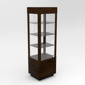 Extended Contemporary Rectangle Horizontal Display Case With Tower Standard Vision
