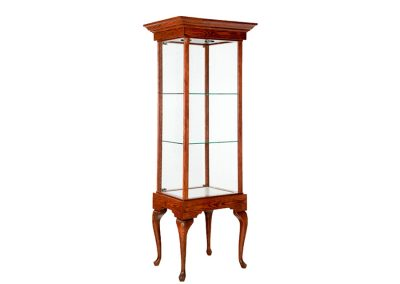 24 Inch Wide Queen Anne Leg Rectangle Display Case