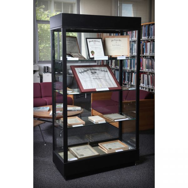 41 Contemporary Rectangle Tower Display Case for a college