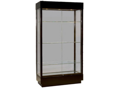 41 Contemporary Rectangle Tower Display Case with Mirror Back and Deck