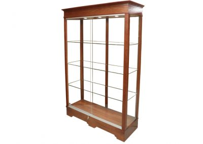 48 Inch Wide Transitional Rectangle Tower Display Case with Sliding Glass Doors