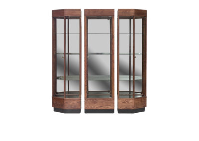 66 Inch Wide Contemporary Three Piece Tower Display Case Grouping