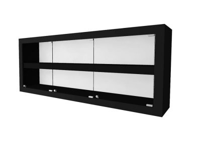 Contemporary Rectangle Wall Mount Display Case